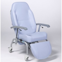 Fauteuil normandy inclinable sur roues